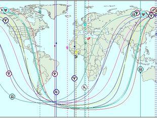 Αστροχαρτογραφία-Οι διασταυρούμενες γραμμές του Άρη