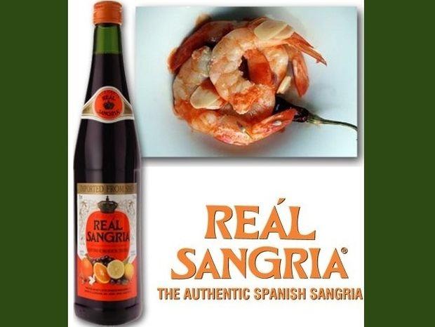 Γαρίδες αλα σπανιόλα με Real Sangria