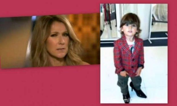 Celine Dion: Ο γιος μου περπατάει καλύτερα με τακούνια από μένα