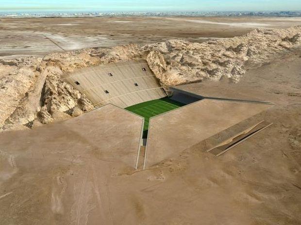 ΔΕΙΤΕ: Γήπεδο ποδοσφαίρου καλά… κρυμμένο στην έρημο!