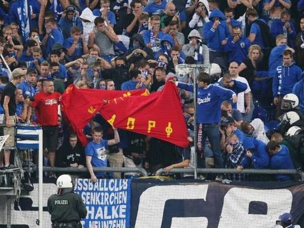 Άθλια πρόκληση των Γερμανών, σήκωσαν σημαία των Σκοπίων (photos)