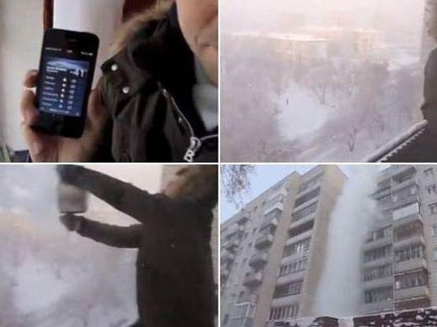 VIDEO: Δείτε τι γίνεται αν πετάξετε καυτό νερό, έξω στους -41 βαθμούς