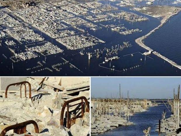 Ανατριχιαστικές φώτο: Η πόλη που ήταν κάτω από το νερό 25 χρόνια