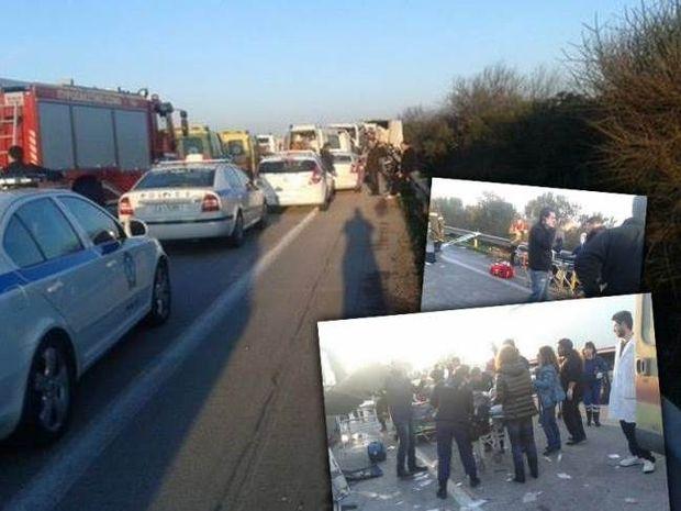 Δύο νεκρές σε τροχαίο με νταλίκα και ΚΤΕΛ στα Μάλγαρα (φωτο)