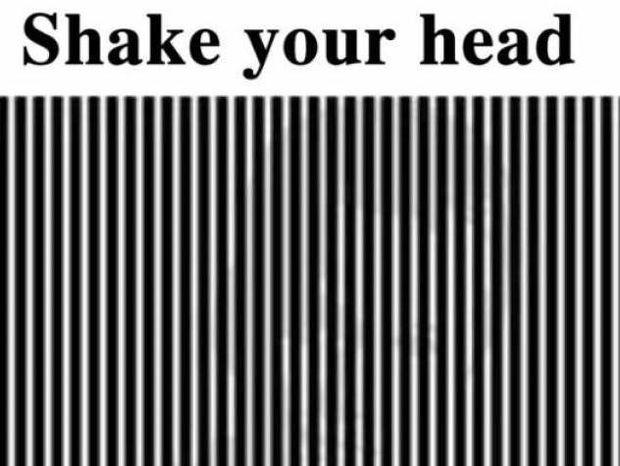 Απίθανη οφθαλμαπάτη! Κουνήστε το κεφάλι σας και θα δείτε...