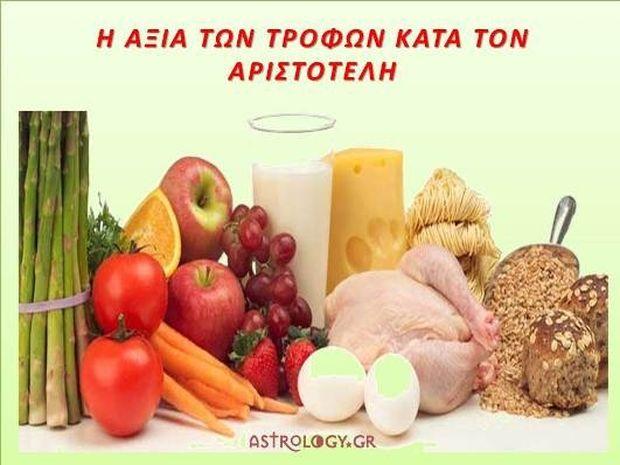 Η αξία των τροφών κατά τον Αριστοτέλη