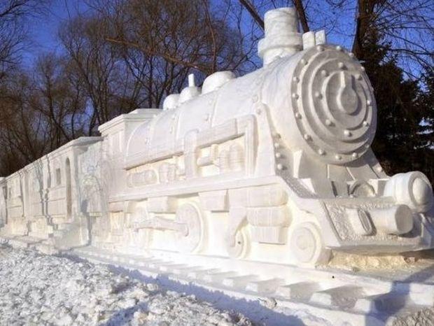Δημιουργίες από χιόνι που δεν φαντάζεστε!