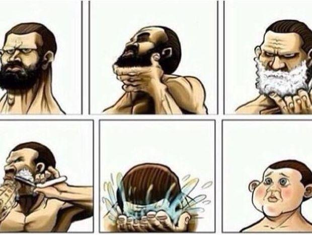 Άνδρες πριν και μετά το ξύρισμα! (Φωτογραφίες)