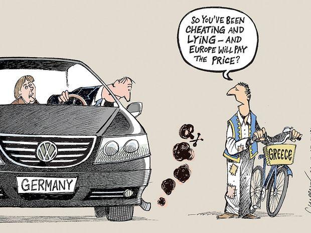Δείτε το σκίτσο των New York Times για το σκάνδαλο Volkswagen και την Ελλάδα που κάνει το γύρο του διαδικτύου!