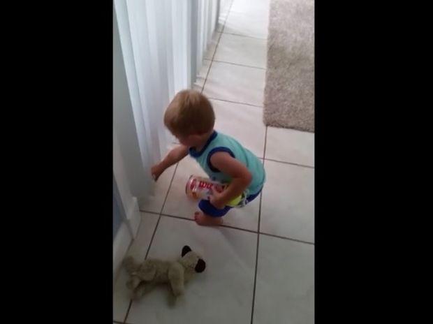 Ο μπόμπιρας προσπαθεί να μαζέψει τα μπαλάκια, αλλά συνέχεια εμφανίζεται κι ένα ακόμα! (video)