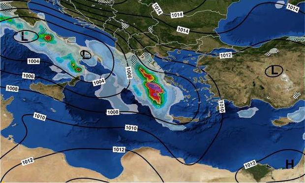 Καιρός: Μετεωρολογική «βόμβα» σαρώνει τη χώρα - Πού θα «χτυπήσει» η κακοκαιρία τις επόμενες ώρες